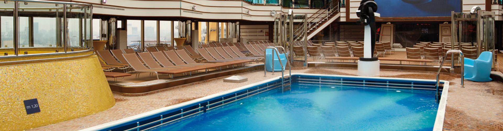 banner; costa; deliziosa; costa deliziosa; swimming pool;